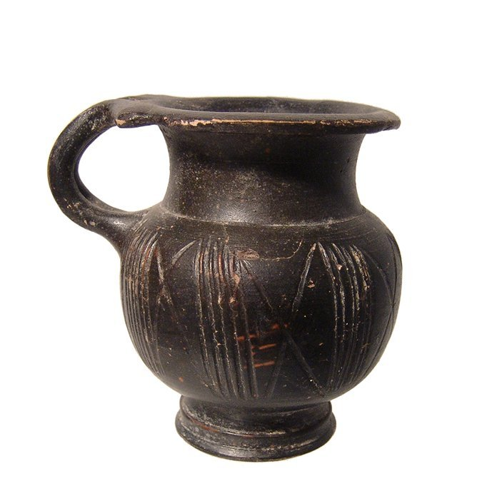 A Greek black-glazed olpe, 4th Century BC - 2