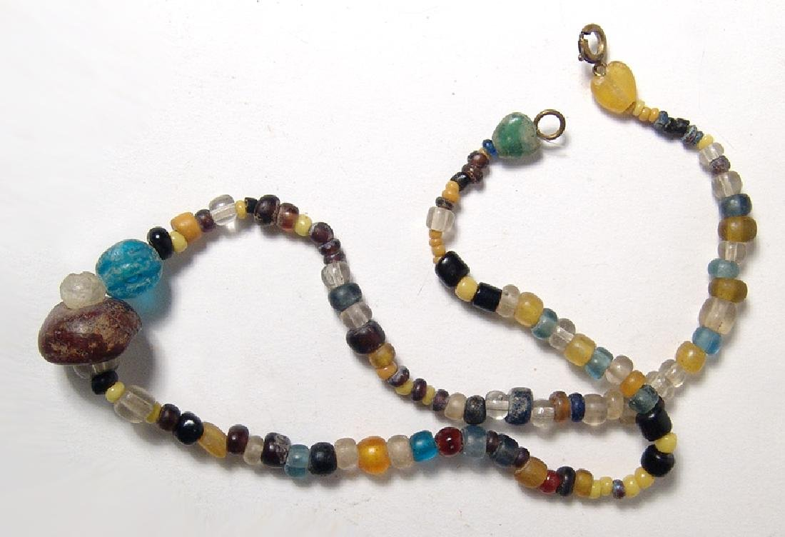 An attractive Roman glass bead necklace