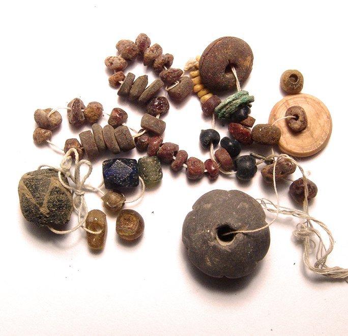 A rare strand of Roman amber beads