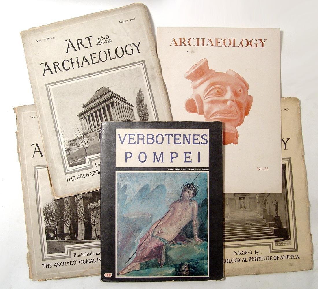 A lot of 4 books on ancient art and archaeology