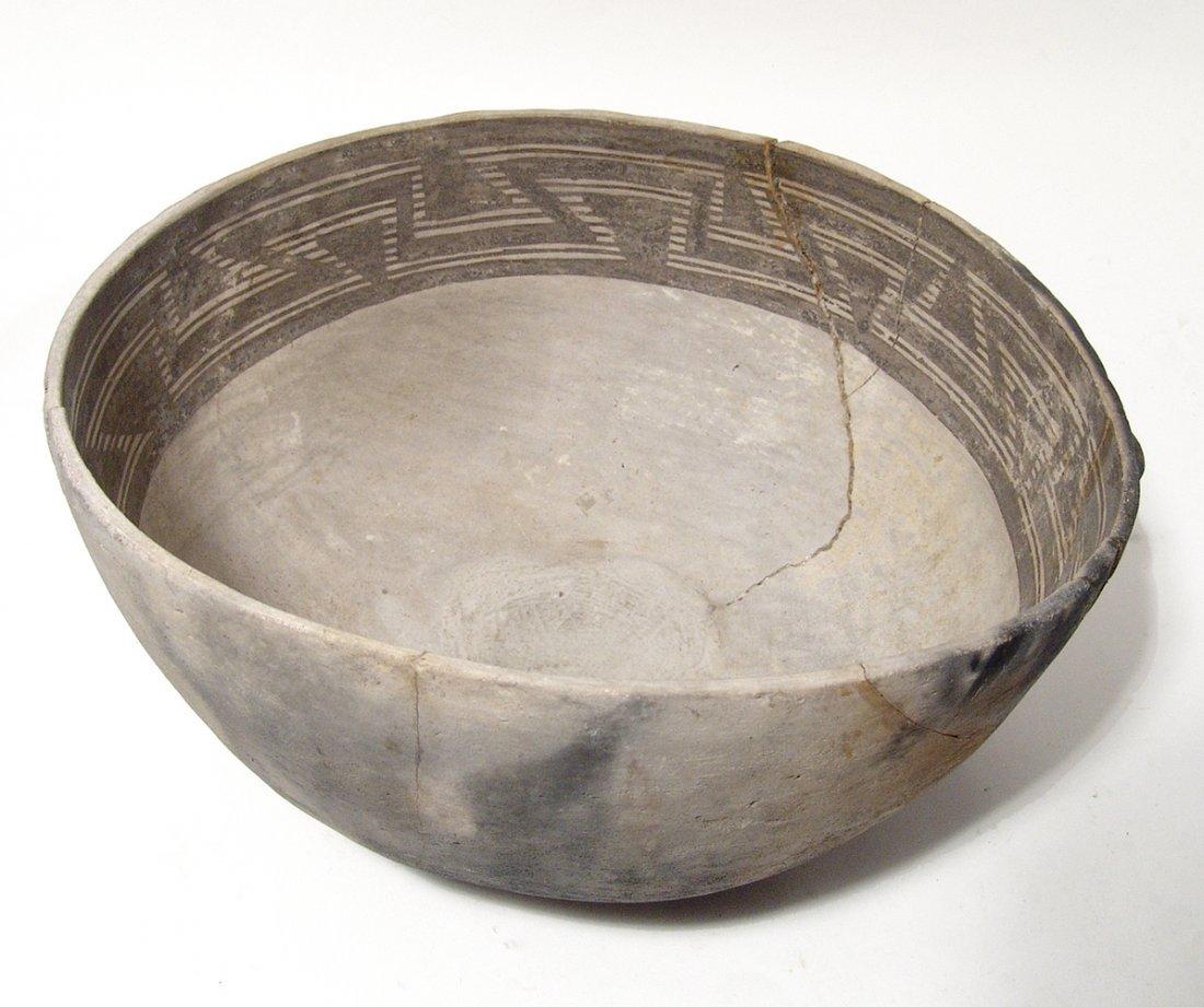A large Anasazi black on white scoop - 2