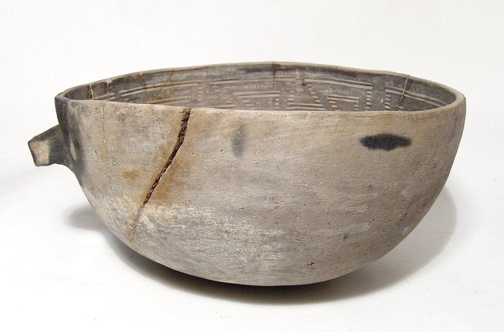 A large Anasazi black on white scoop - 3