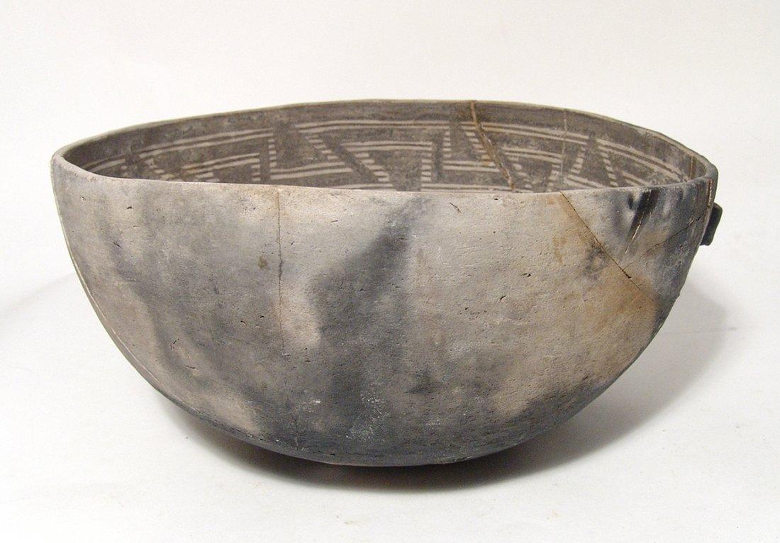 A large Anasazi black on white scoop - 4