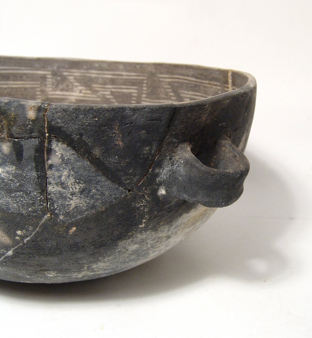 A large Anasazi black on white scoop - 5