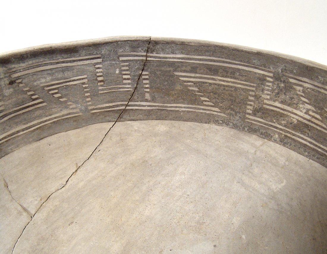 A large Anasazi black on white scoop - 7