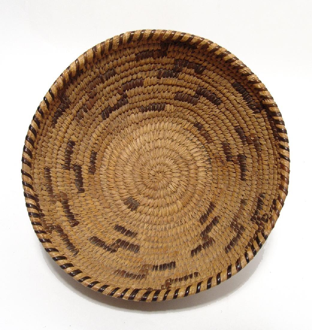 A Navajo woven deep bowl