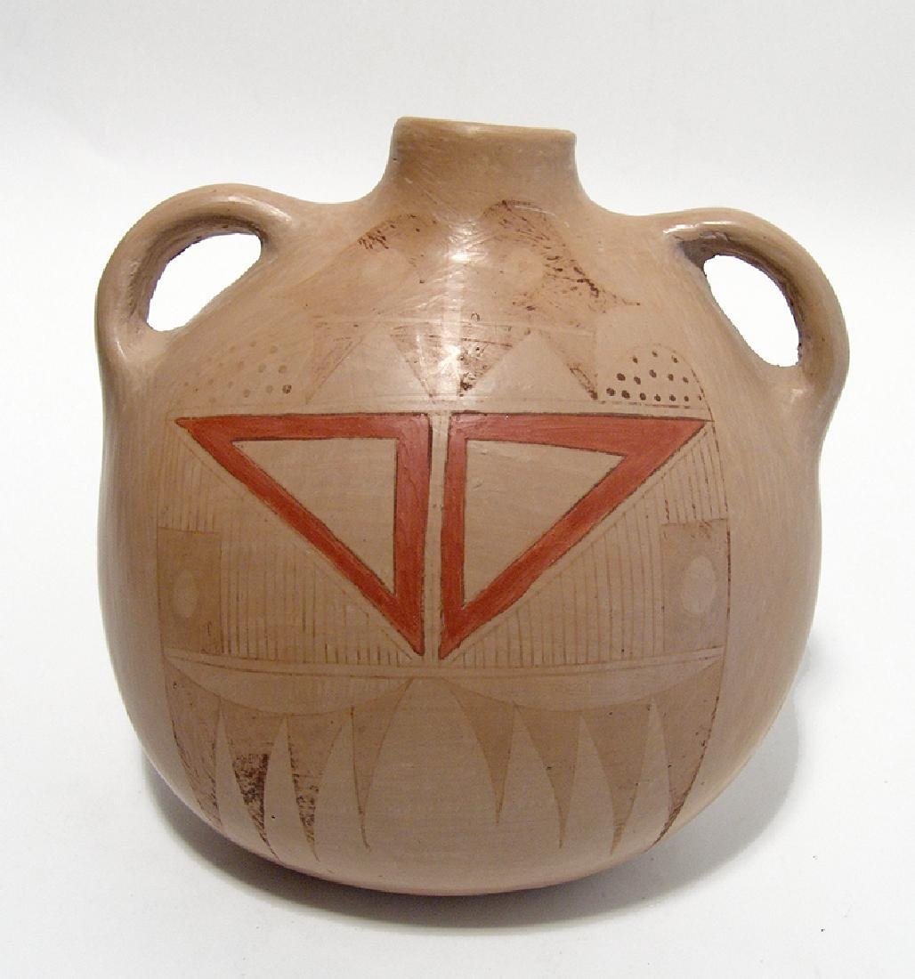 Lovely two-handled Hopi canteen, Adelle L. Nampeyo