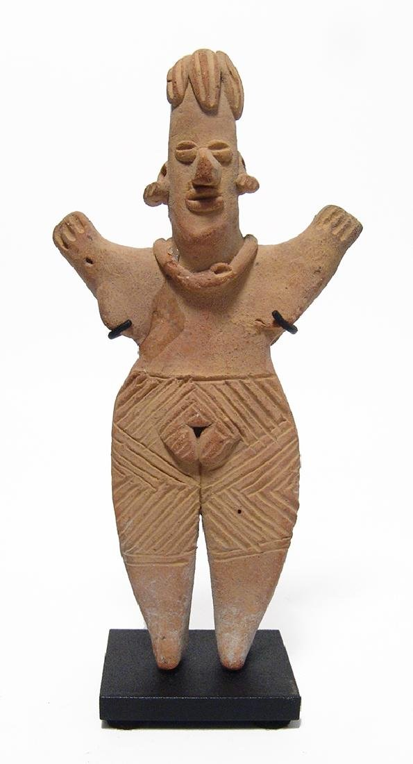 A very nice Colima standing woman upraised arms