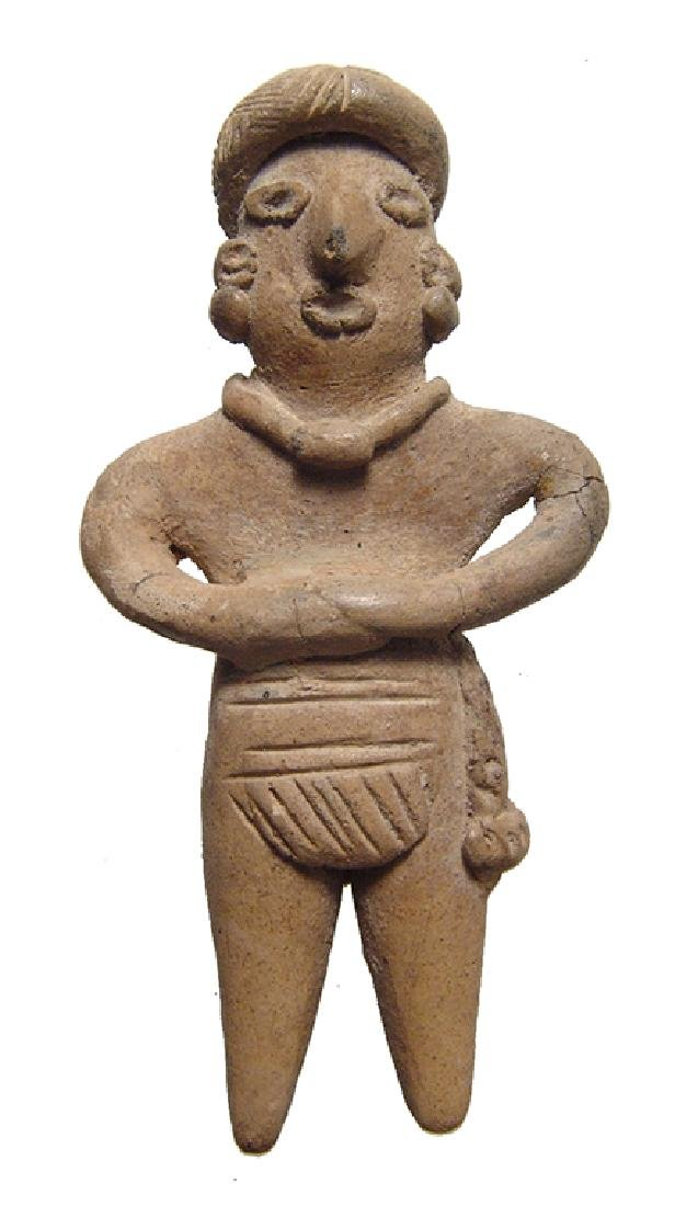 A nice little Colima figure of a man, West Mexico