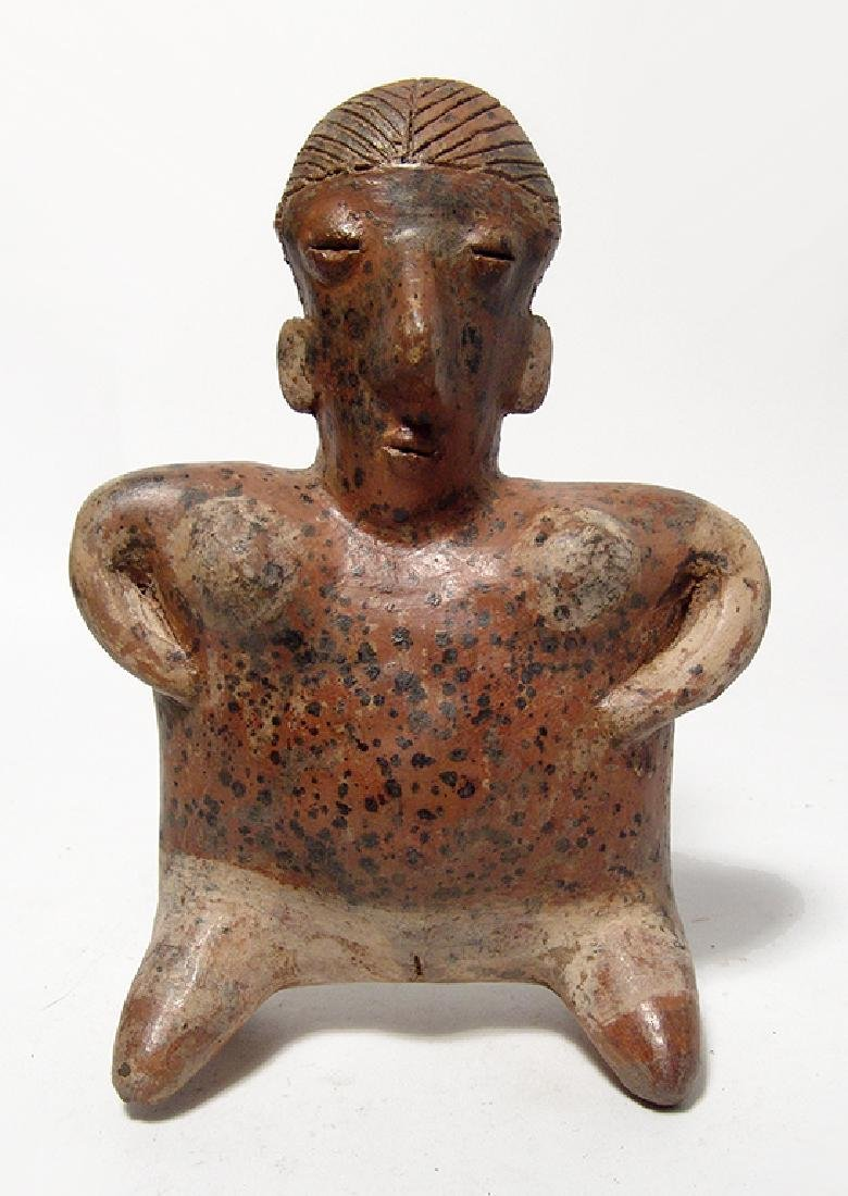 Nayarit figure of a kneeling woman, West Mexico