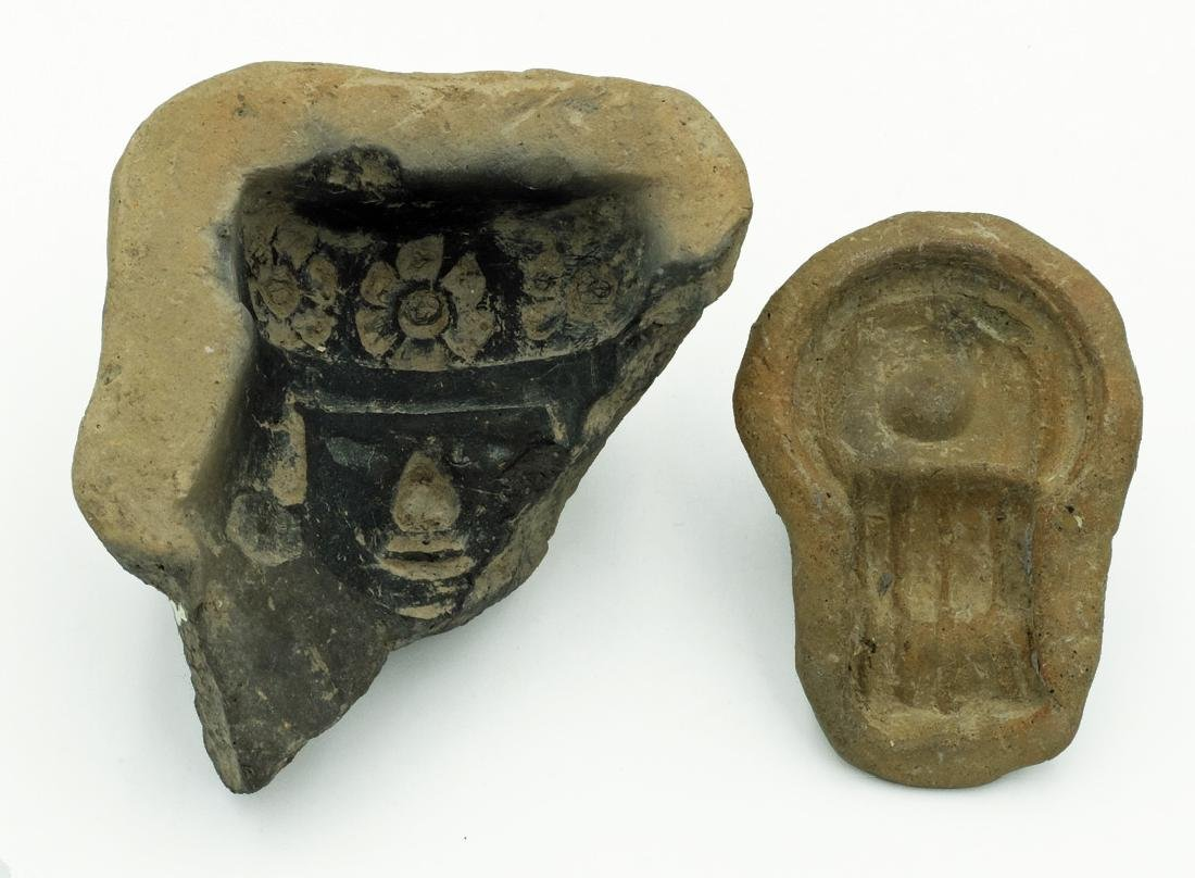 A pair of clay molds from Teotihuacan, Mexico