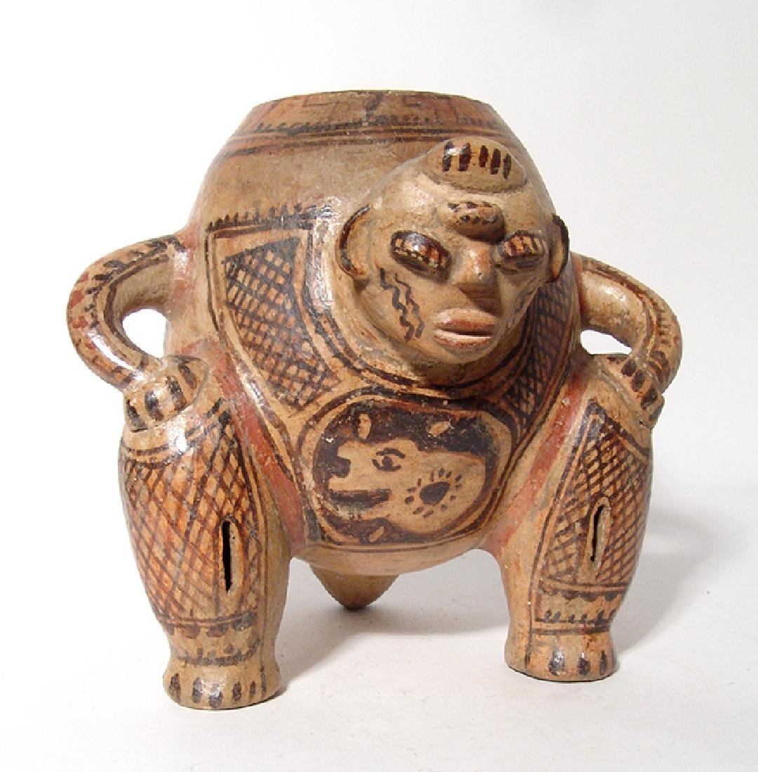 A very nice Nicoya tripod human effigy vessel