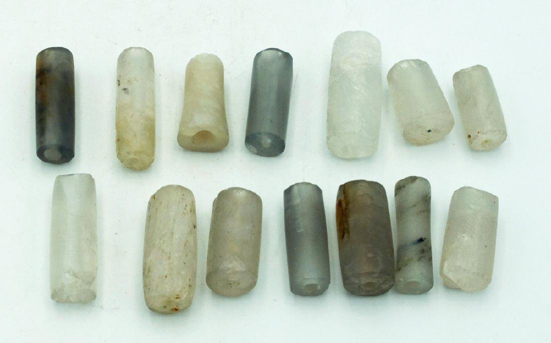 A group of 14 Calima crystal beads from Colombia