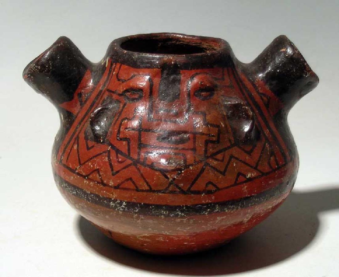 Unusual Shipibo vessel from the upper Amazon region