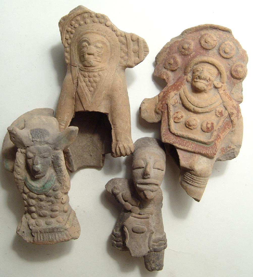 4 La Tolita, Tumaco or Jamacoaque figural fragments