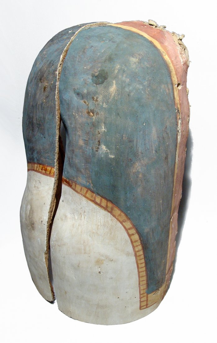 Pair of Egyptian cartonnage fragments from sarcophagus - 2