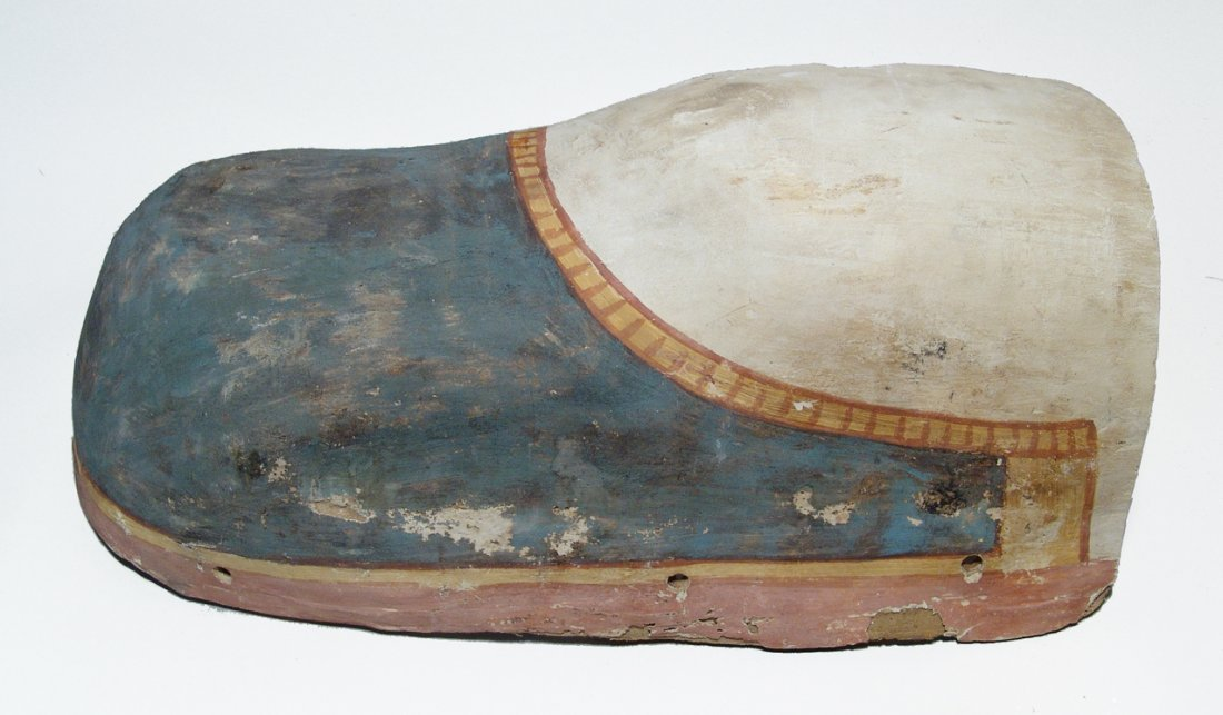 Pair of Egyptian cartonnage fragments from sarcophagus - 3