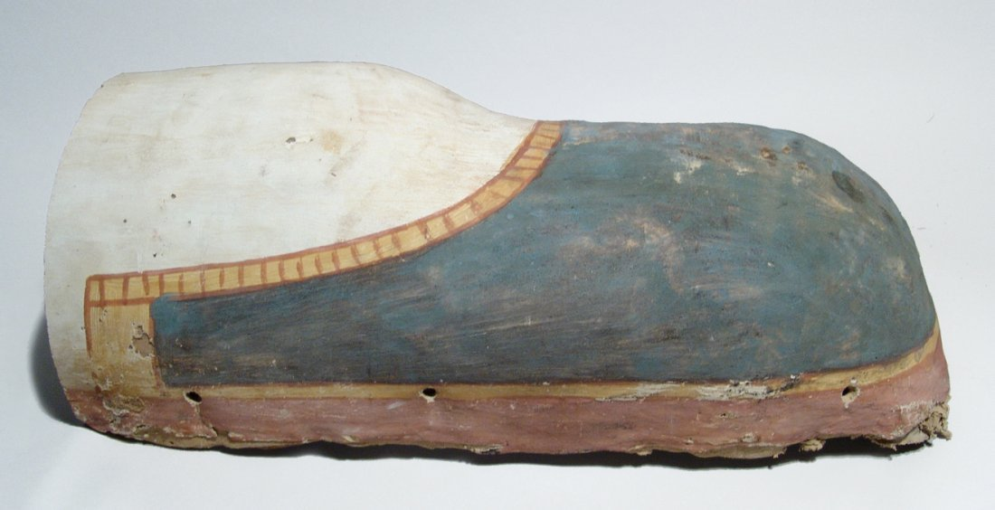 Pair of Egyptian cartonnage fragments from sarcophagus - 5