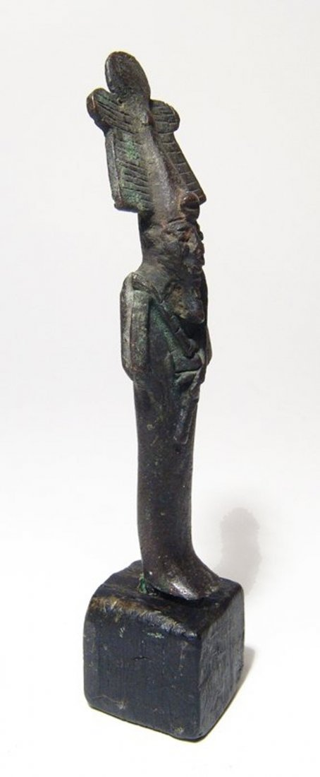 Egyptian bronze figure of Osiris, Late Period - 2