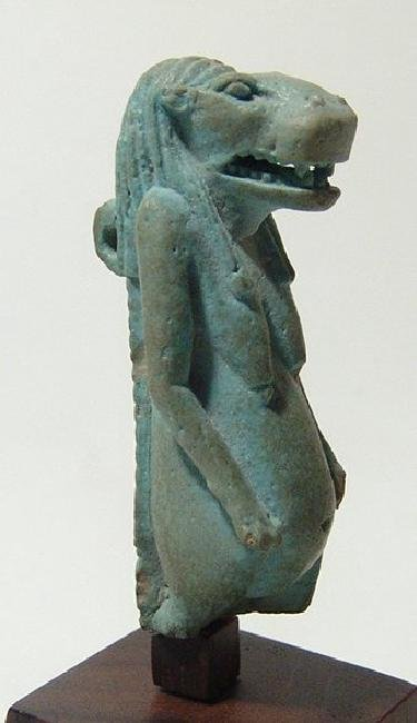 Stunning Egyptian faience amulet of the goddess Taweret