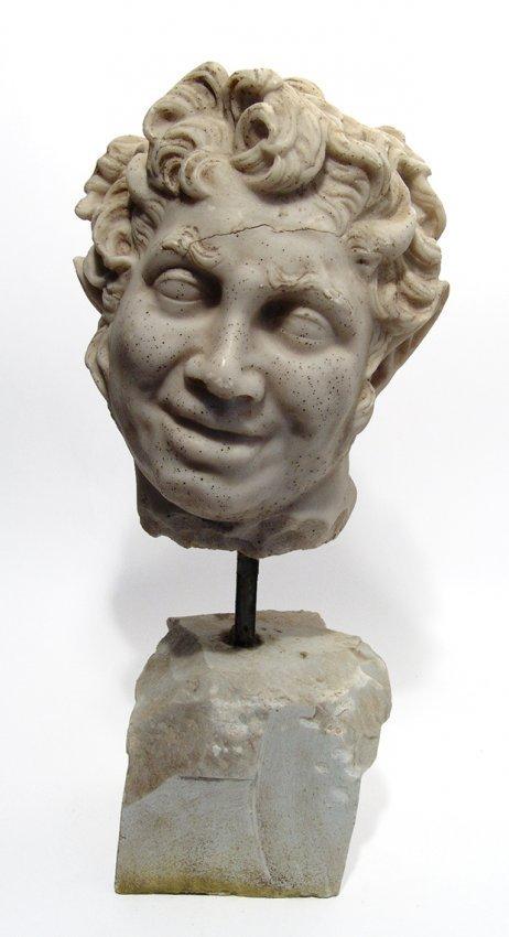 A fantastic Neo-Classical head of a satyr