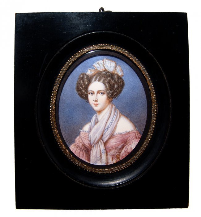 Lovely 19th Century portrait miniature of a young woman