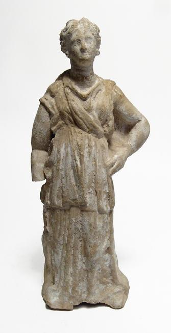 A wonderful Greek terracotta figure of a woman