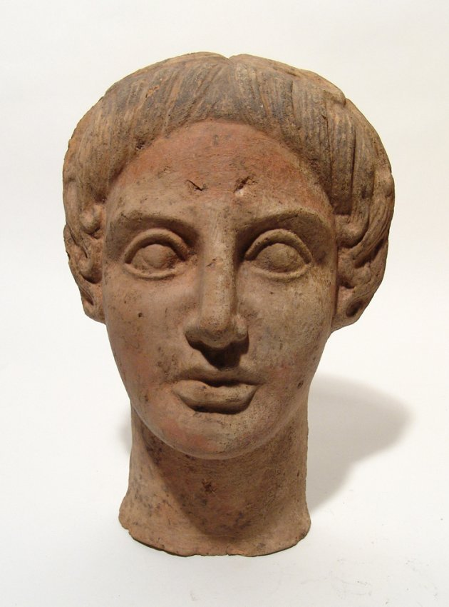 Front half of large Etruscan terracotta head