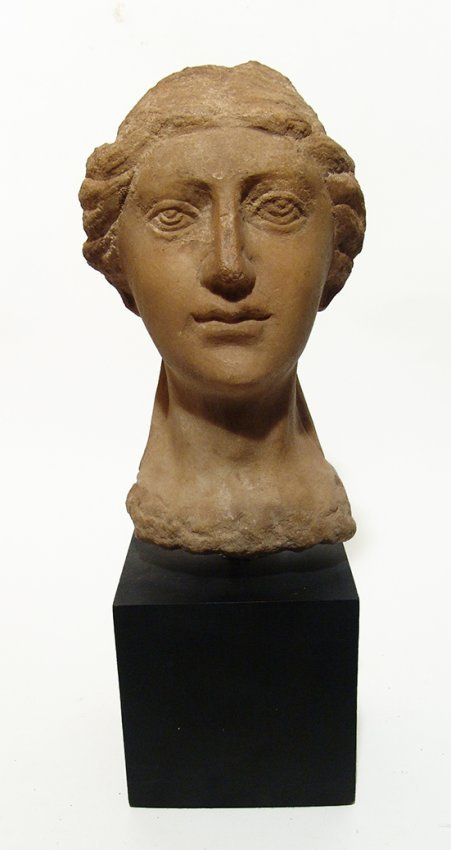 A beautiful Eastern Roman Empire marble head of a woman