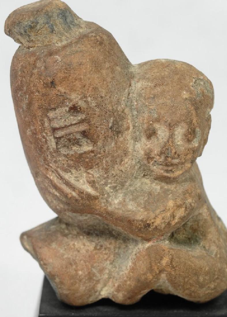 A fine Egyptian terracotta ithyphallic figure - 2