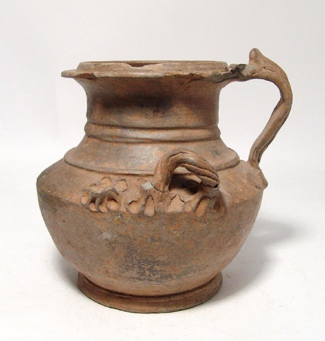 A beautiful Hellenistic ceramic olpe of unique form - 3