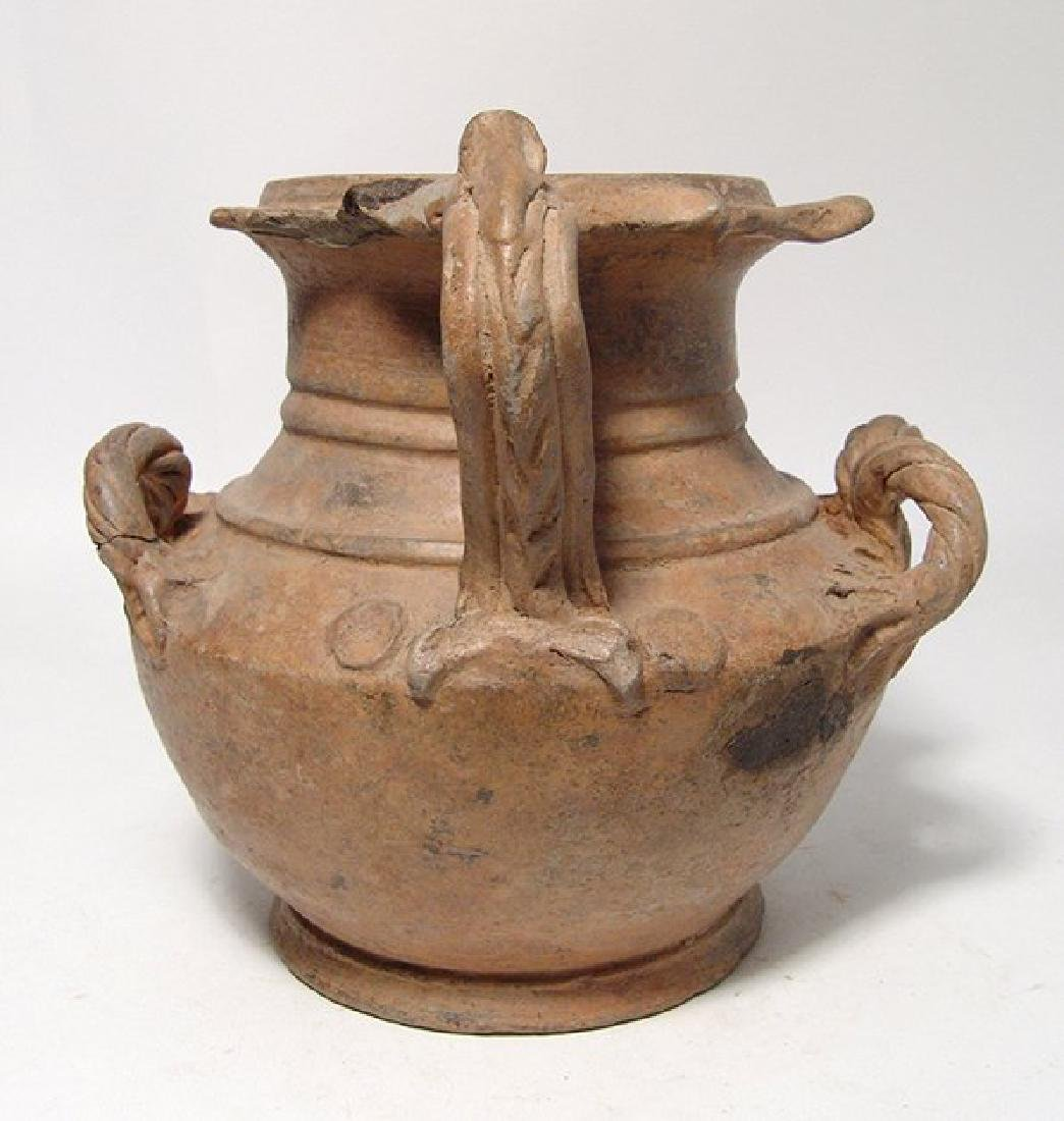 A beautiful Hellenistic ceramic olpe of unique form - 4