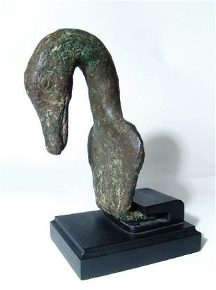 A wonderful Roman bronze fitting in form of a goose