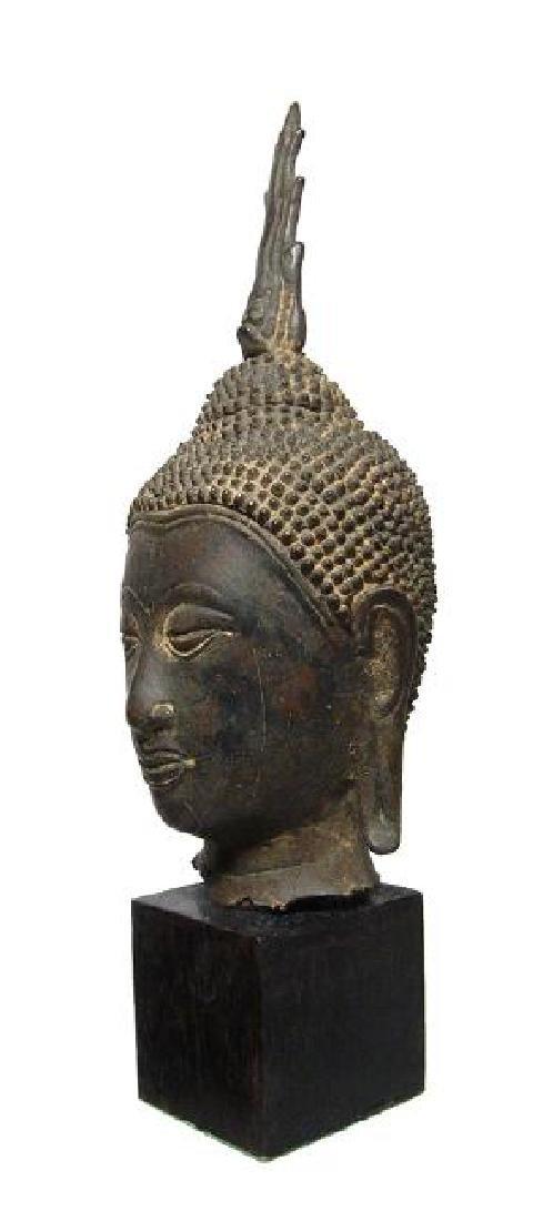 A choice Lana bronze Buddha head from Thailand - 2