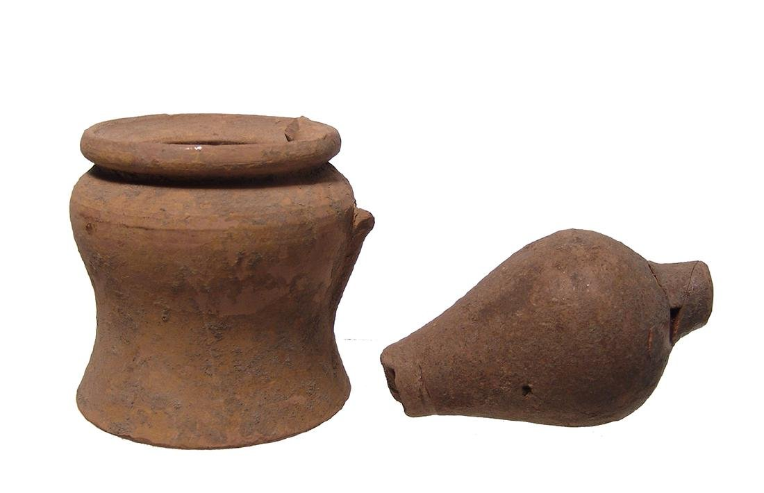 Interesting pair of Roman and Greek pottery fragments - 2