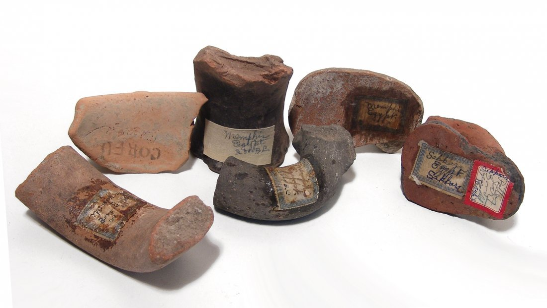 Antique collection of 8 Graeco-Roman pottery fragments