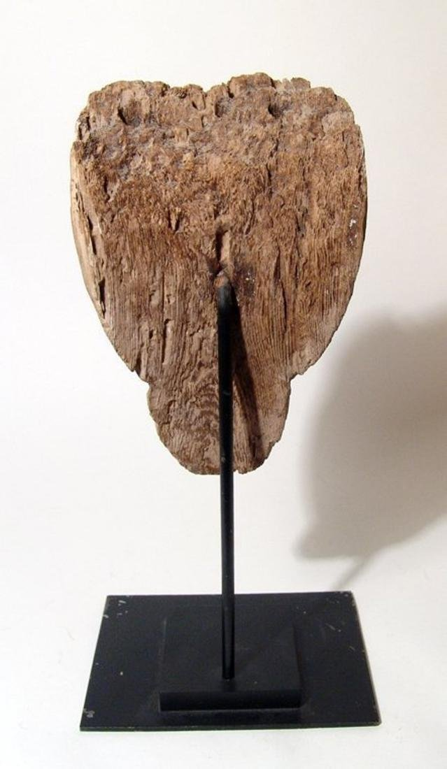 Egyptian wooden mummy mask with naturalistic detail - 4