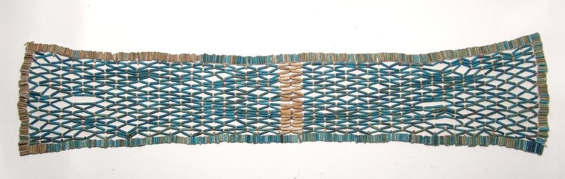 Wonderful Egyptian beaded pectoral net, Late Period