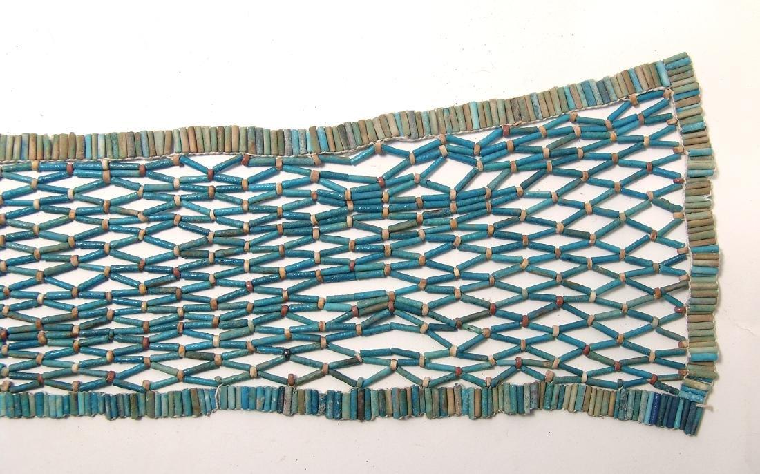 Wonderful Egyptian beaded pectoral net, Late Period - 2