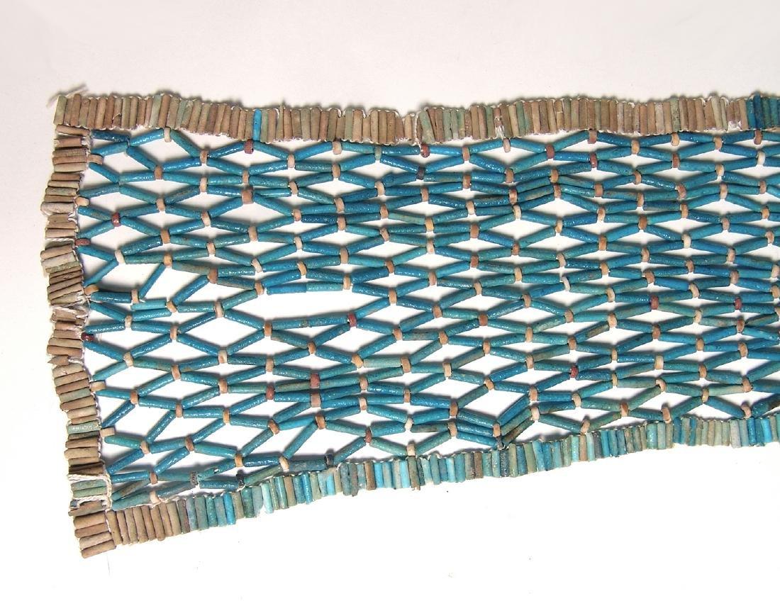 Wonderful Egyptian beaded pectoral net, Late Period - 3