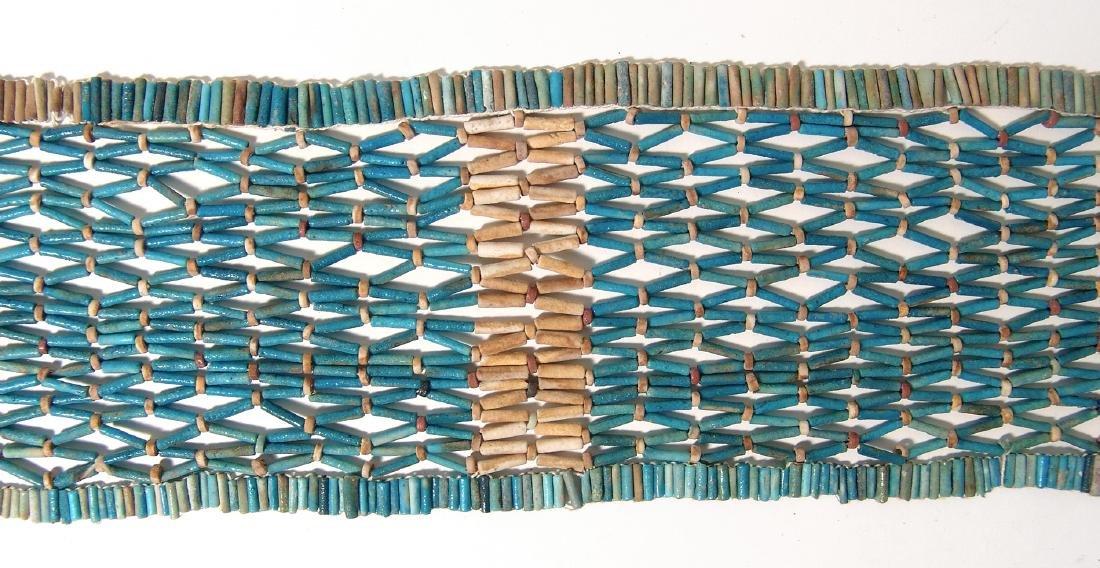 Wonderful Egyptian beaded pectoral net, Late Period - 4