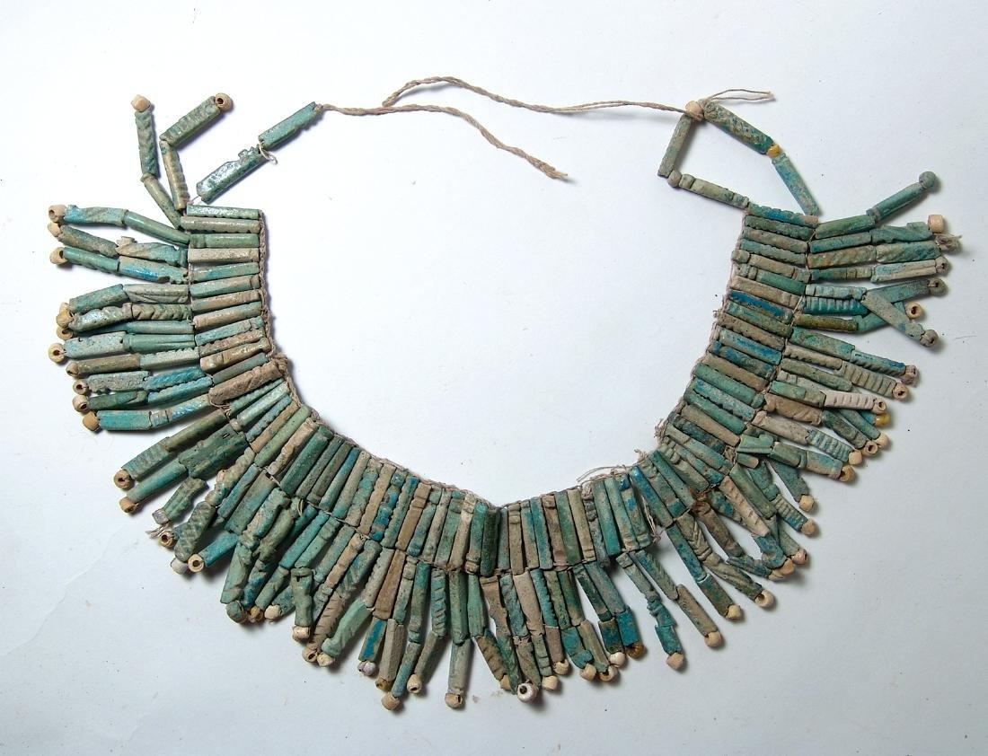 An Egyptian faience beaded collar, Late Period