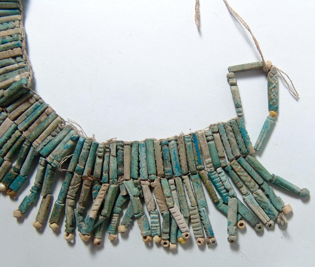 An Egyptian faience beaded collar, Late Period - 2