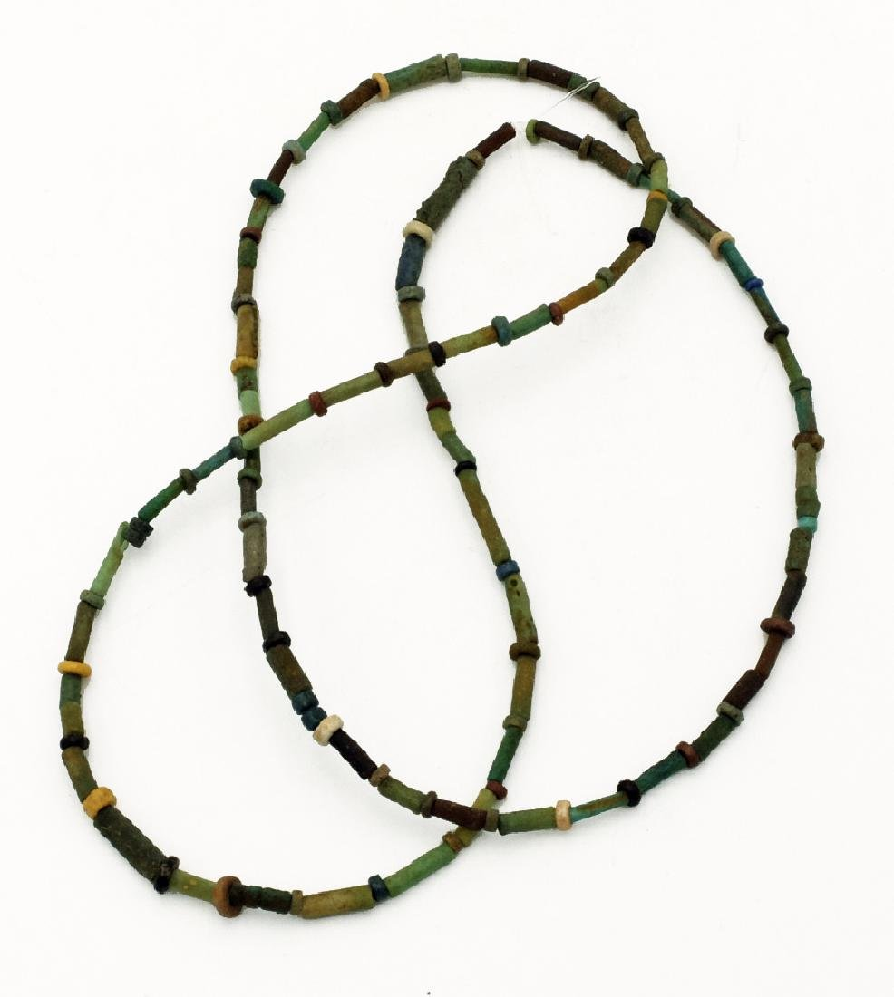 A lovely Egyptian faience bead necklace, Late Period