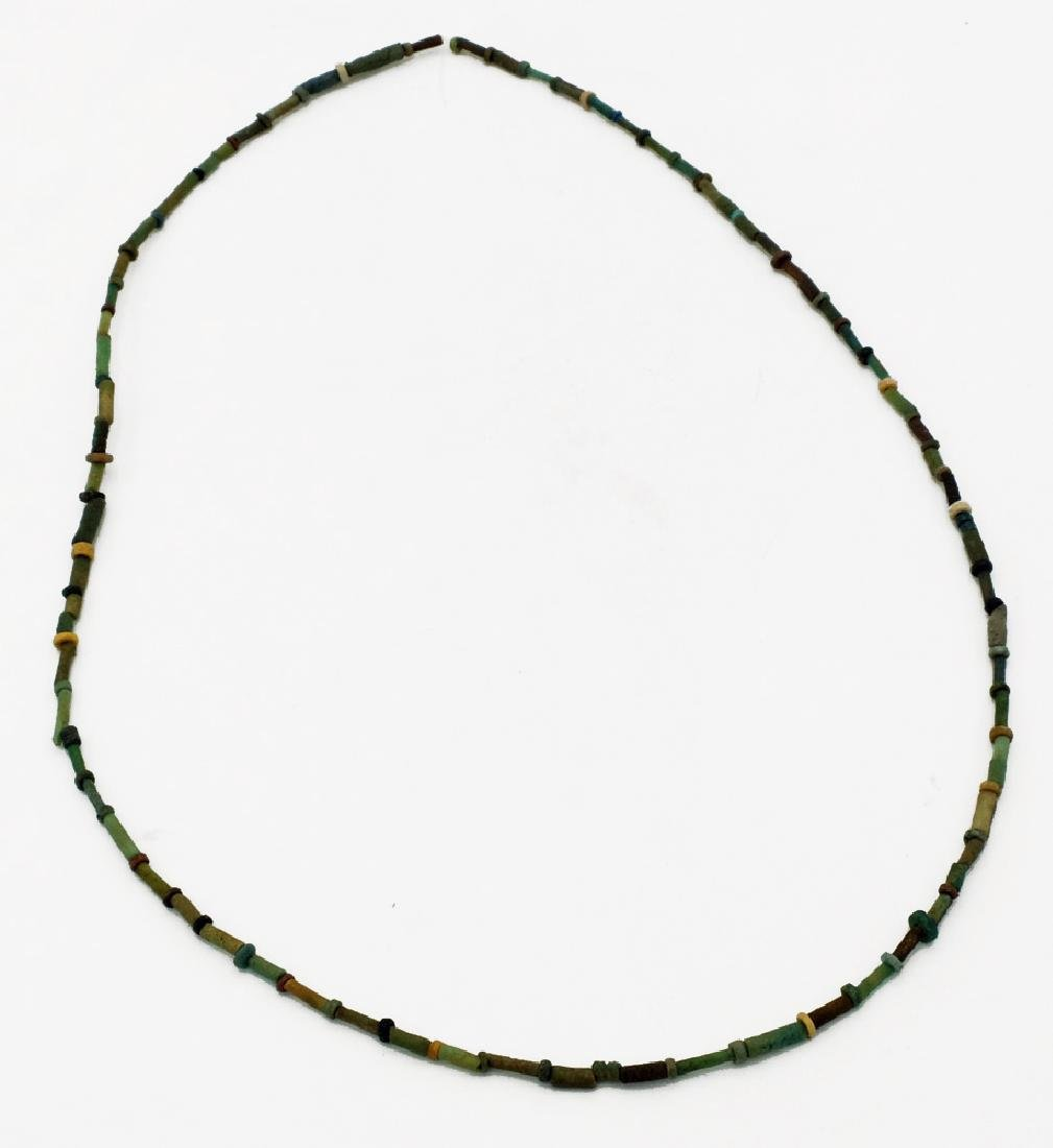 A lovely Egyptian faience bead necklace, Late Period - 2