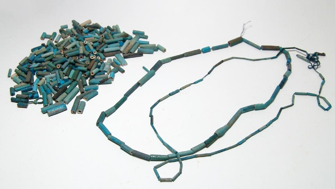 A nice lot of Egyptian faience beads