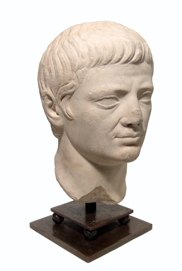 A choice Roman marble head of a man, Julio-Claudian - 2