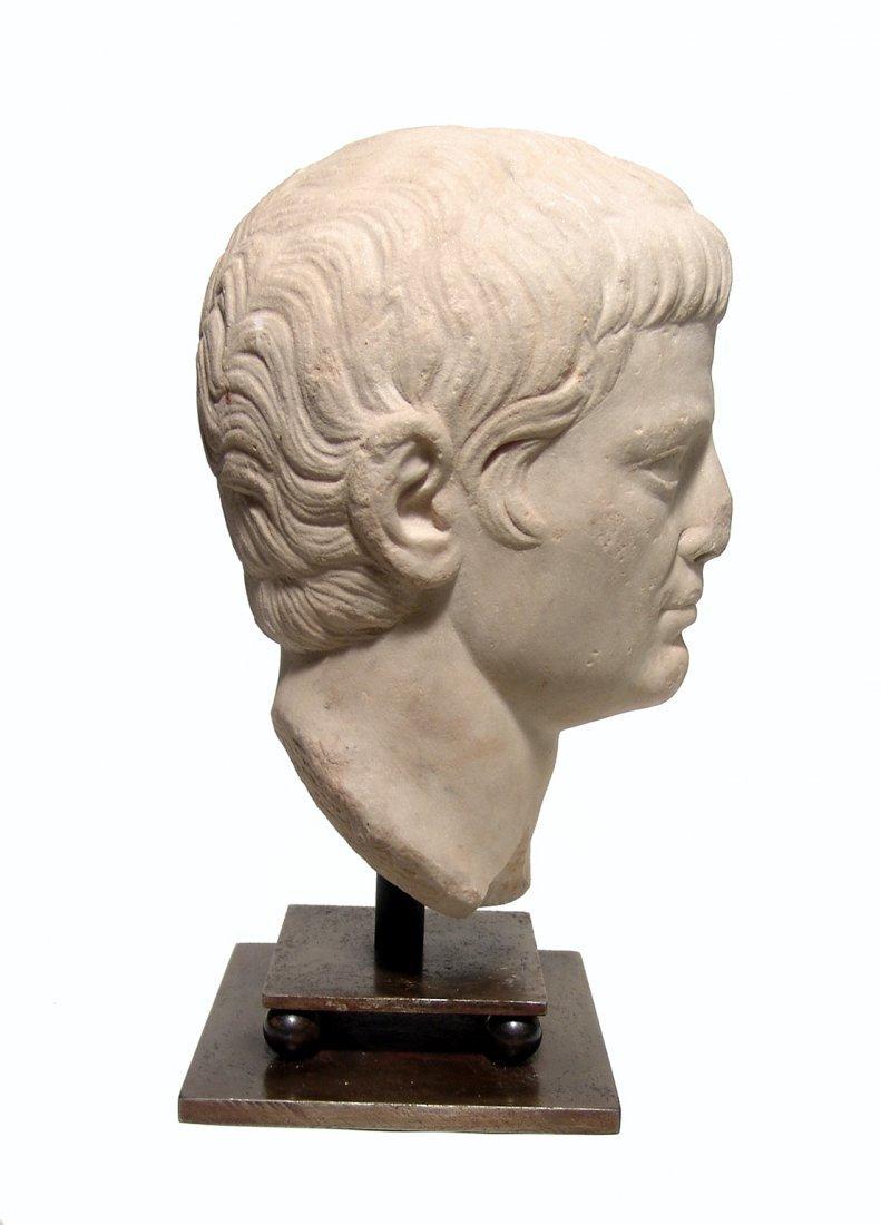 A choice Roman marble head of a man, Julio-Claudian - 3