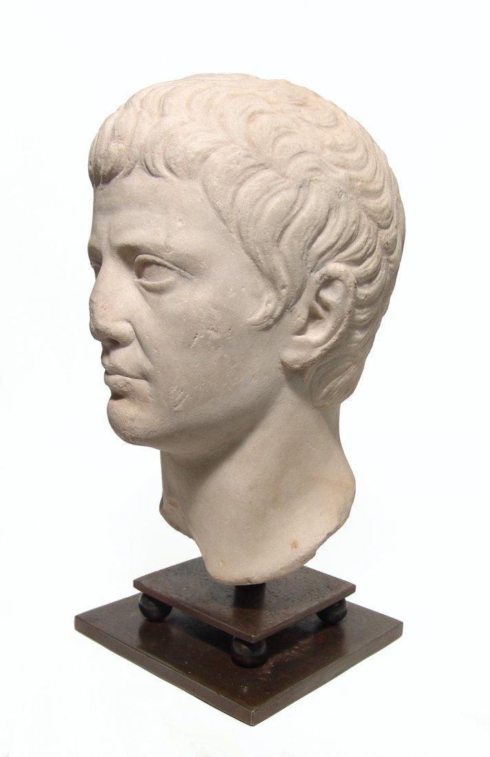 A choice Roman marble head of a man, Julio-Claudian - 4