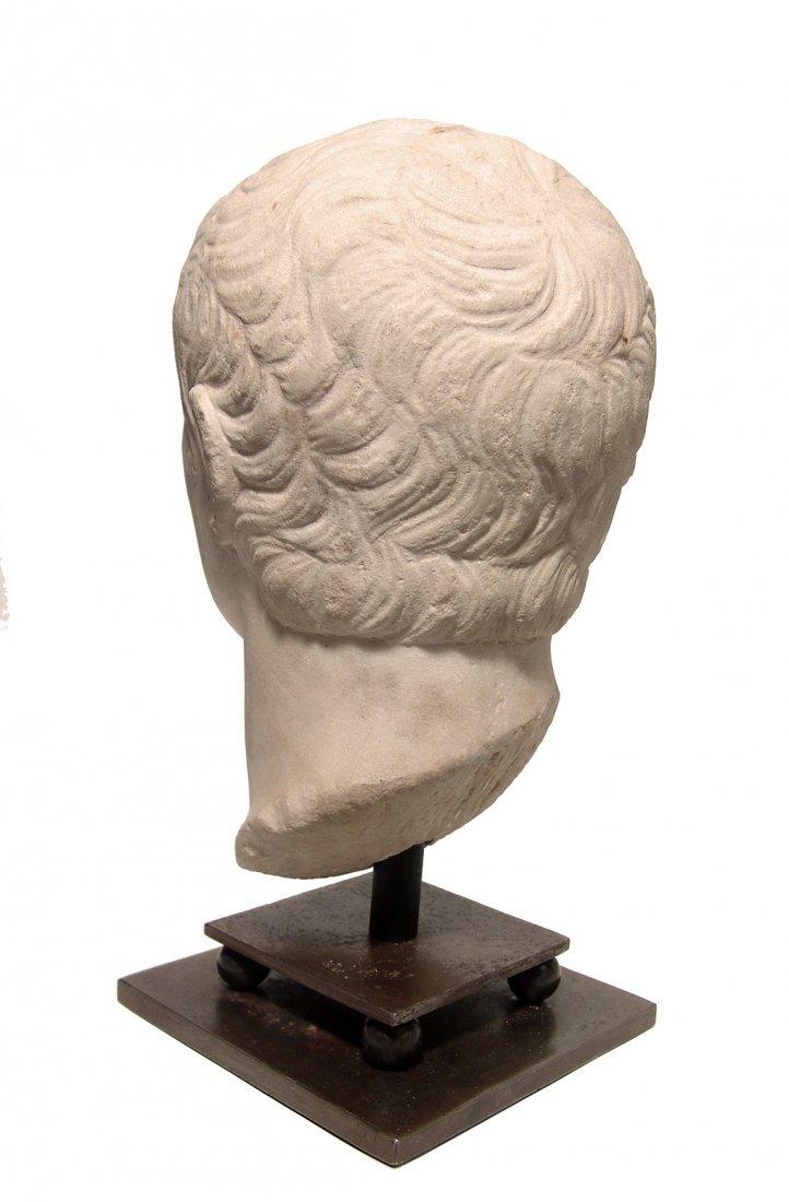 A choice Roman marble head of a man, Julio-Claudian - 5